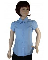 Блуза Алина цвет голубой короткий рукав
