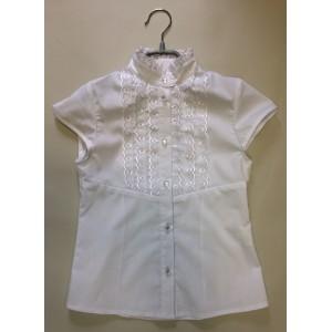 Блуза Анечка цвет белый короткий рукав