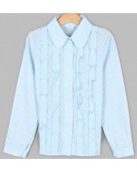 Блуза Машенька цвет голубой
