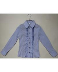 Блуза Оксана синяя полоска