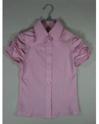 Блуза Светлана  короткий рукав цвет розовый