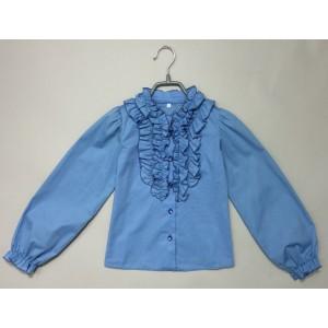 Блуза Виктория цвет голубой