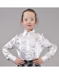 Блуза Жанна атлас белая