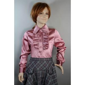 Блуза Жанна атлас розовая