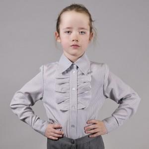 Блуза Жанна серая полоска