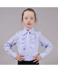 Блуза Жанна синяя полоска