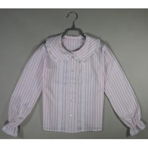 Блуза Дина розовая полоска