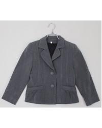 Пиджак для девочки серый