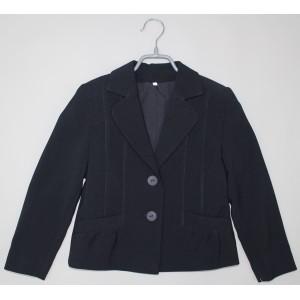 Пиджак для девочки синий