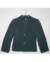 Пиджак для девочки зеленый
