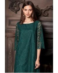 Платье F22.303 зеленый