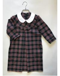 Платье Валентина клетка 05