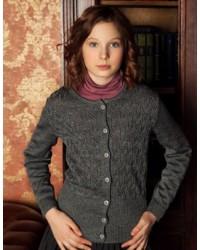Жакет для девочки трикотаж 739 серый