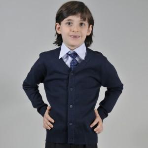 Жакет для мальчика трикотажный синий