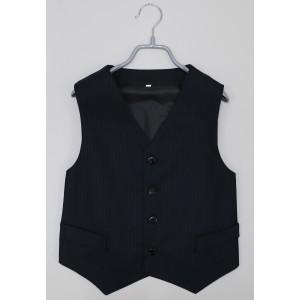 Жилет для мальчика костюмный 01 черный
